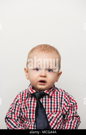 A ten month old baby boy. - Stock Photo