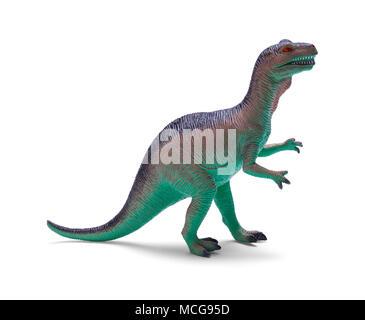 Plastic Toy Tyrannosaurus Rex Isolated on White Background. - Stock Photo