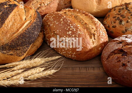 Bread and rolls in present times occur in many types and shapes not only in Poland but also around the world. - Stock Photo