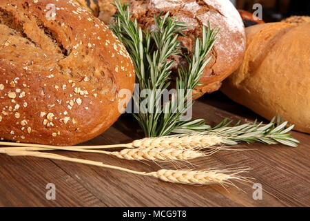 Bread and rolls at present times occur in many types and shapes not only in Poland but all over the world. - Stock Photo