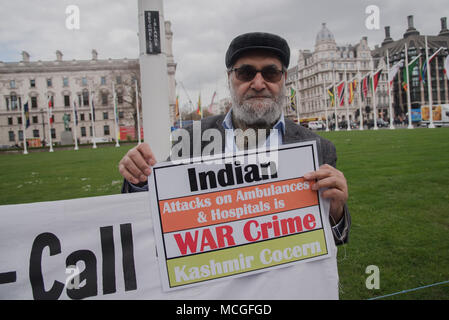 London, UK. 16th Apr, 2018. Kashmiri girls, women and children raped and murder by Indian army and Atrocities on Kashmiris. Protestors demand their right to self-determination and Indian war crimes against Kashmir, and the presence of Indian Prime Minister Narendra Modi's visit to the UK for the Commonwealth Heads of Government Meeting this week. Credit: See Li/Alamy Live News - Stock Photo