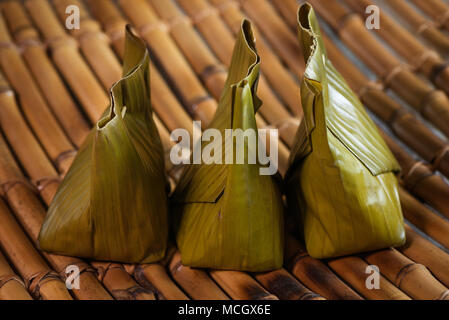 close up three packs of lemak manis .Traditional asian food - Stock Photo