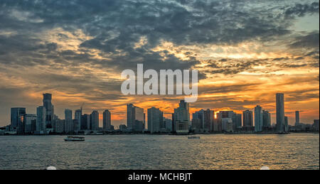 Lower Manhattan, also known as Downtown Manhattan, is the southernmost part of the island - Stock Photo
