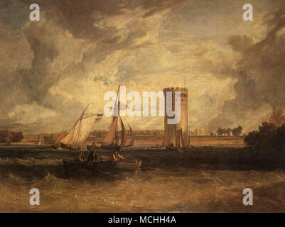 Tabley House and Lake: Windy Day - Stock Photo