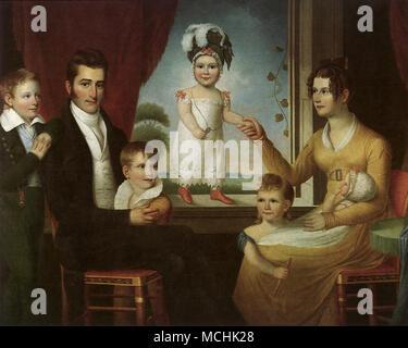 Ephraim Hubbard Foster Family, The - Stock Photo