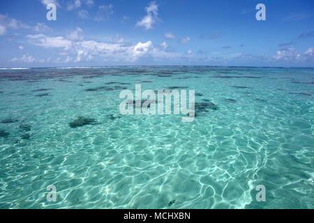 Beautiful clear ocean, Punta Cana, Dominican Republic, Caribbean. - Stock Photo