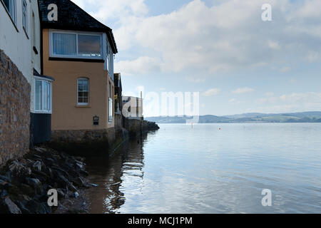 Living by the River Exe near Exeter in Devon, England. 21 March 2018 - Stock Photo