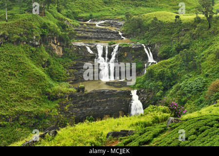 St. Clair's Falls, Central Highlands, Talawakale, Sri Lanka - Stock Photo