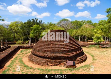 Ruins, Polonnaruwa, North Central Province, Sri Lanka - Stock Photo