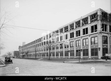 Packard Automotive Plant, an automobile factory that was closed and abandoned in 1958. - Stock Photo