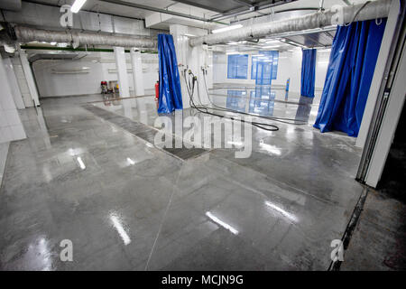 Interior space car wash - Stock Photo