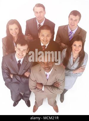 group portrait of multiethnic business team