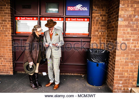 Kelso, Scottish Borders, UK. 16th April 2018. Kelso Racecourse hold the Buccleuch Cup meeting. - Stock Photo