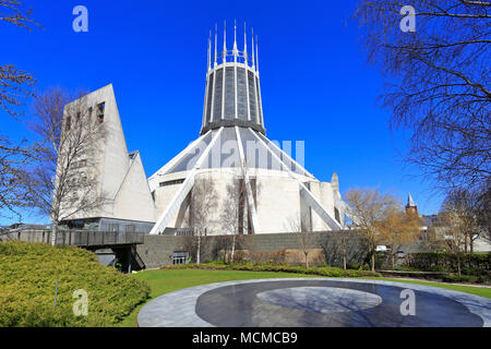 Liverpool Metropolitan Cathedral, officially known as the Metropolitan Cathedral of Christ the King, Liverpool, Merseyside, England, UK. - Stock Photo