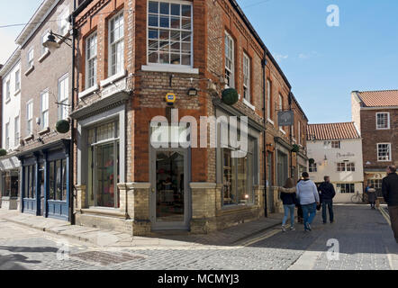 Mulberry shop store and stores in the city town centre Swinegate York North Yorkshire England UK United Kingdom GB Great Britain - Stock Photo