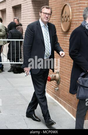 New York, NY, USA. 17th Apr, 2018. Andrew Morton, seen at The View to promote his new book: Meghan: A Hollywood Princess out and about for Celebrity Candids - TUE, New York, NY April 17, 2018. Credit: Derek Storm/Everett Collection/Alamy Live News - Stock Photo