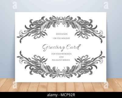 Vintage wedding invitation templates cover design with gold leaves templates of corporate identity set with doodles abstract ornament vector illustration backgrounds concepts decorative stopboris Gallery