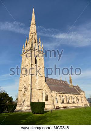 St margarets church in bodelwyddan st asaph north wales uk - Stock Photo