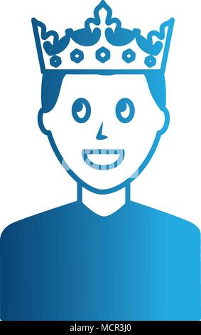 young man with crown avatar character - Stock Photo