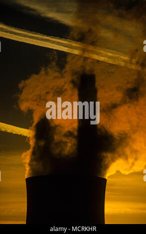 Cooling Towers, Port Talbot, Gwent, South Wales, UK, GB - Stock Photo