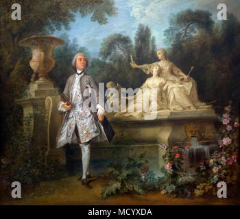 Portrait of the Actor Grandval, Nicolas Lancret, circa 1742, National Gallery of Art, Washington DC, USA, North America - Stock Photo