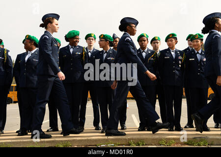 us air force junior reserve officers training corps cadets from pine forest high school watch