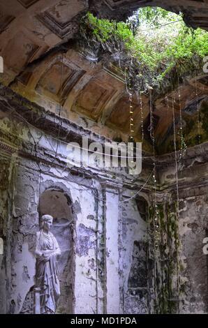 Caserta, Campania region, Italy August 22, 2016. The splendid Royal Palace of Caserta, details of the English gardens. - Stock Photo