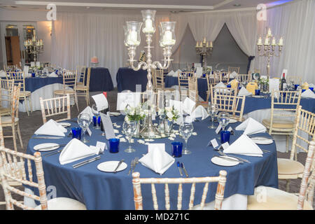 Wedding Reception Room Tables And Layout Stock Photo 180143182 Alamy