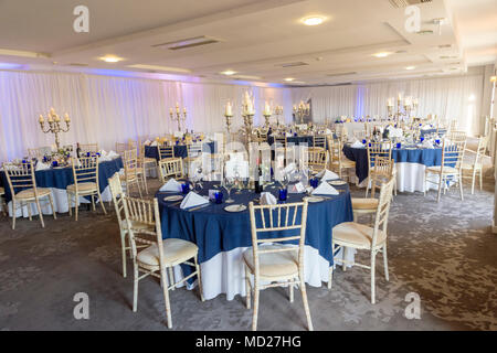Wedding Reception Room Tables And Layout Stock Photo 180143172 Alamy