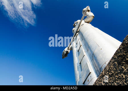 Tbilisi, Georgia : Kartlis Deda (Mother of Georgia) monument erected on the top of Sololaki hill in 1958, to commemorate the  1500th anniversary of Tb - Stock Photo