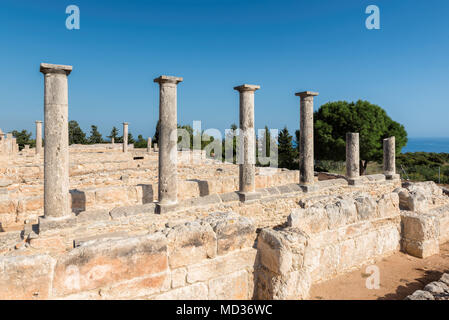 Ancient Columns of Apollo Temple ruins, Limassol District. Cyprus. - Stock Photo