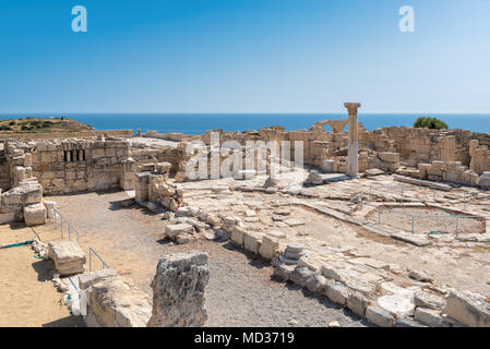 Cyprus ruins of ancient Kourion, Limassol District. - Stock Photo