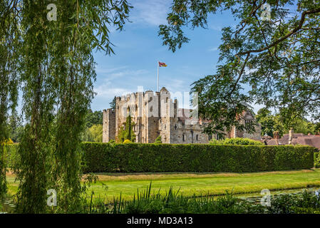 Hever, Kent, England - June 18, 2015. Hever castle as seen on 18 of June, 2015. The oldest part of the castle dates to 1270 and in 1462 it was convert - Stock Photo