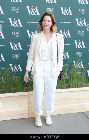 London, UK. 18th Apr, 2018. Sienna Guillory, Fashioned from Nature - VIP Preview, Victoria and Albert Museum, London UK, 18 April 2018, Photo by Richard Goldschmidt Credit: Rich Gold/Alamy Live News - Stock Photo