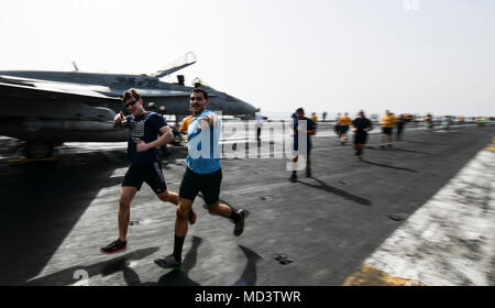 41c08aa62 Marines run during a St. Patrick's Day fun aboard Marine Corps Air ...
