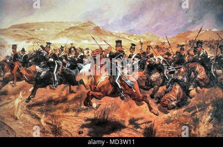 Woodville Richard Caton - Charge of the Light Brigade Balaclava 25 October 1854 - Stock Photo