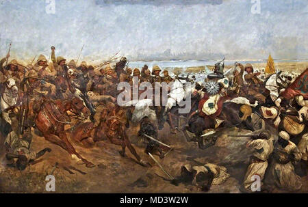 Woodville Richard Caton - the Charge of the 21st Lancers at the Battle of Omdurman 2 September 1898 - Stock Photo