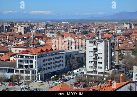 Prizren, an old pittoresque town in Kosovo - Stock Photo