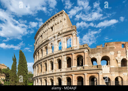 Colosseum close-up at sunset in Rome, Italy - Stock Photo