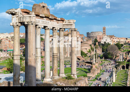 Roman Forum at Sunset in Rome, Italy. - Stock Photo