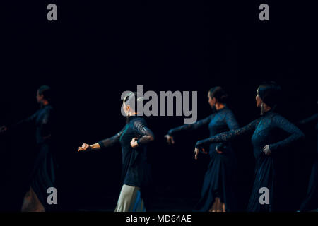 Flamenco. Performance on stage. - Stock Photo