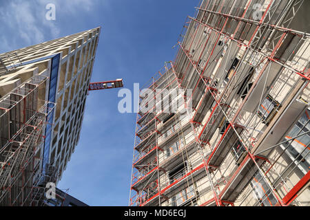 Construction project in Hamburg - Stock Photo
