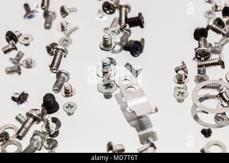 Large assortment of screws,bolts,spring,nuts and metallic