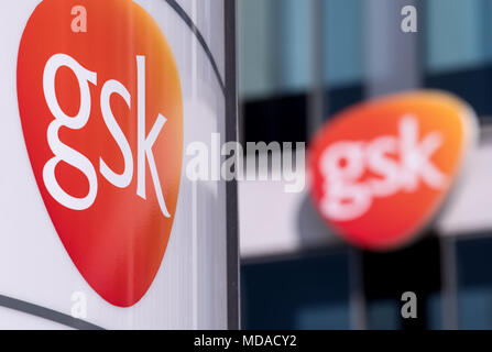 19 April 2018 Germany Munich The Logo Of Glaxosmithkline Gsk At