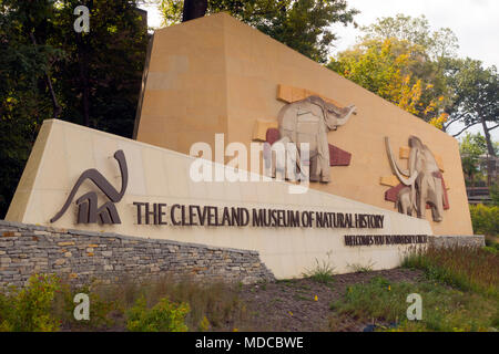 Cleveland museum of natural history OH - Stock Photo