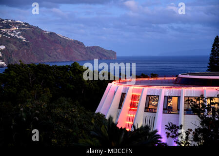 The Casino in Funchal on the island of Madeira is an ultramodern desgned building. There is nightly entertainment and a good restaurant - Stock Photo