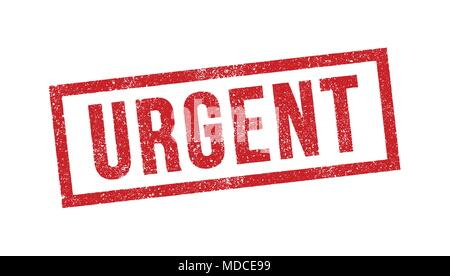 Vector illustration of Urgent red ink stamp - Stock Photo