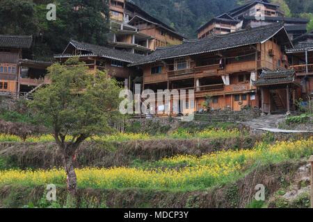Langde Miao village, Guizhou province, China - Stock Photo