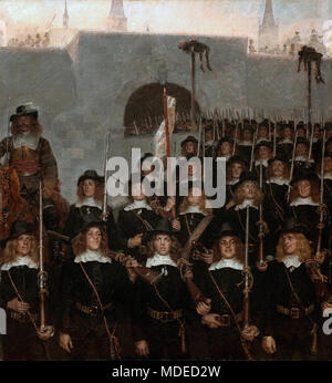 Zahrtmann Kristian - Students Leave to Defend Copenhagen In 1658 - Stock Photo