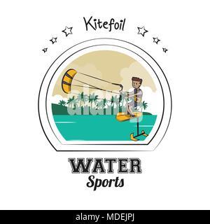 Water sports cartoon - Stock Photo